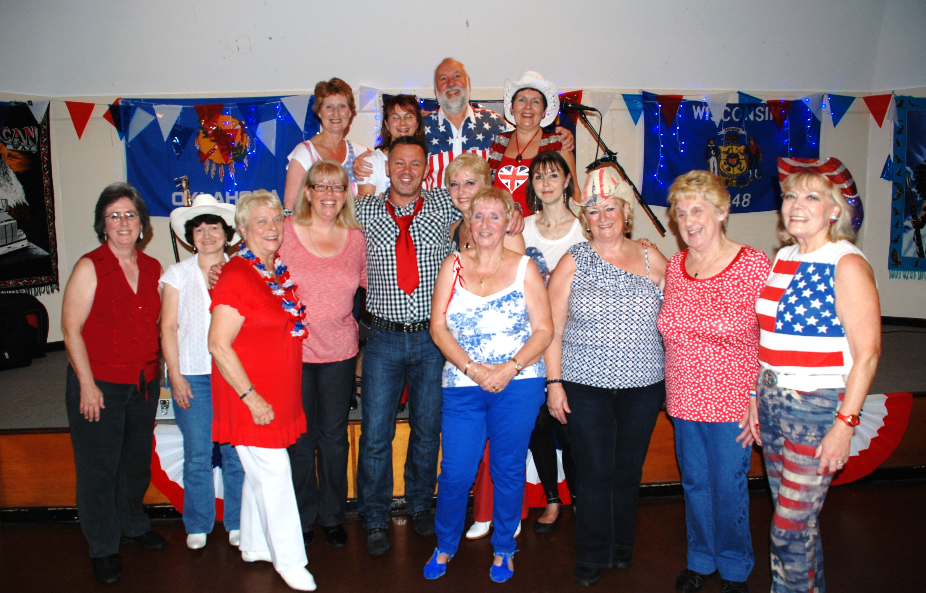 Red, White & Blue Party night with Tony Rouse July 2012