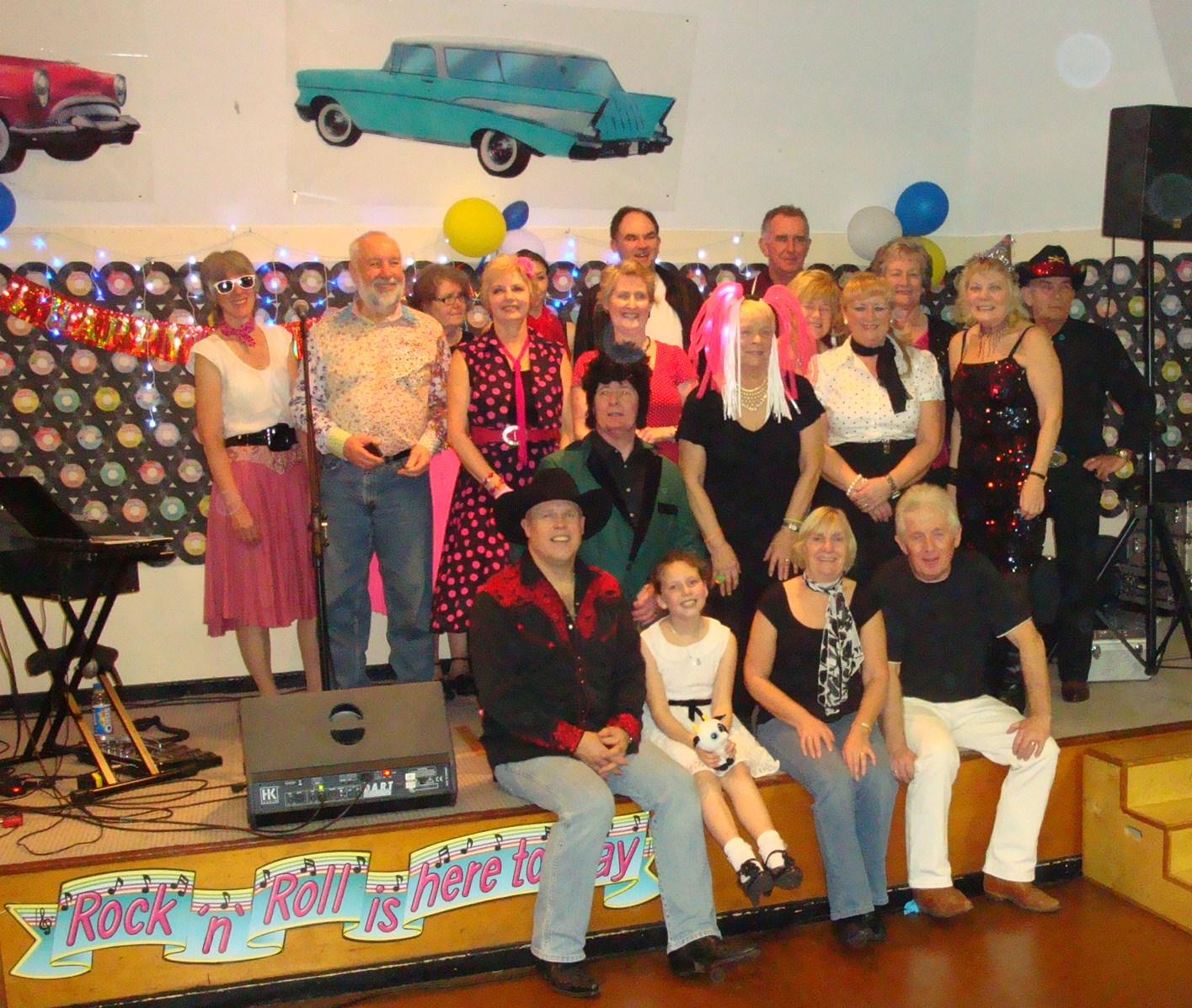 Alan Gregory with the Rock and Roll Guys & Girls - New Year 2011